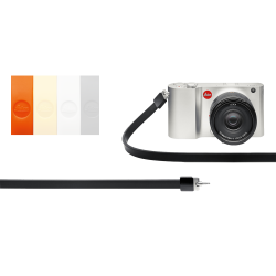 LEICA COURROIE T Silicone Rouge Orange