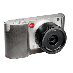 "LEICA PROTECTION T Cuir ""Stone Grey"" / Gris Pierre"